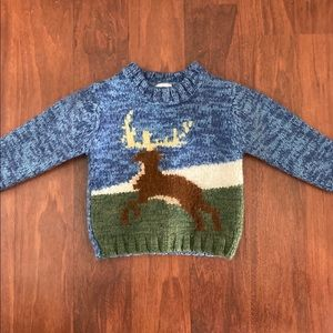 3/20 Gap moose pull over sweater 2T